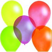 Воздушные шары, 100шт, М10/25см, ассорти, флюорисцентные