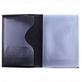 Обложка для автодокументов OfficeSpace кожа тип 1, черный