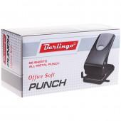 Дырокол на 65 л, Office Soft, металлический, черный