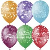 """Воздушные шары, 25шт, M12/30см, """"Праздничная тематика"""", пастель+декор"""