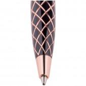 """Ручка шариковая """"Delucci"""" синяя, 1мм, корпус черный, поворотный механизм, футляр"""