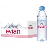 """Вода минеральная """"Evian"""" негаз. 0,5л, 24шт/уп., ст.1"""