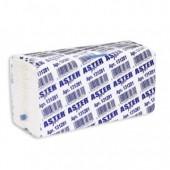 """Полотенца бумажные для держателей """"Aster Pro"""", 2-слойные, белые, С-слож., 153 лист/упак"""