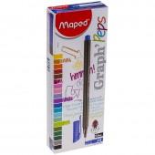"""Ручка капиллярная Maped """"Graph pep'S"""" синяя, 0,4мм, трехгранная, ст.121"""