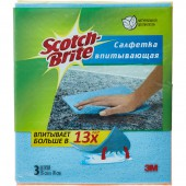 Салфетки Scotch-Brite Оптима целлюлоза 200 г/м 16х18 см 3 шт/уп