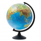 Глобус Земли физический,Классик,рельефный,320мм