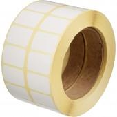 Термотрансфертные этикетки бумага полуглянец 30x20 в 2 ручья - 4000шт./уп