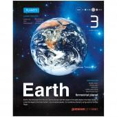 """Дневник 1-11 кл. 40л. (твердый) """"Космос. Земля"""", металлизация"""