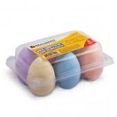 Мел цветной Brauberg, Набор 6шт., для рисования на асфальте, в форме яиц, блистер, 223561