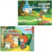 Альбом д/рис.  8л. Пифагор обл.офсет, В лесу (2вида), 101896