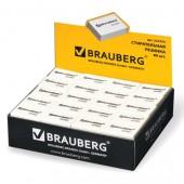 Ластик Brauberg, 26х17х7мм, цвет белый, в карт. дисплее, 221033