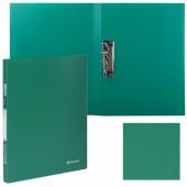 Папка с бок. мет. приж. Brauberg Стандарт, зеленая, до 100 листов, 0,6мм, 221627