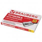 "Точилка Brauberg ""Style"", металлическая клиновидная, в карт. коробке, 222484"