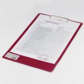 """Доска-планшет Brauberg """"Comfort"""" с верхним прижимом А4, 23*35см, картон/ПВХ, Россия, бордовая,222660"""