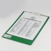 """Доска-планшет Brauberg """"Comfort"""" с верхним прижимом А4, 23*35см, картон/ПВХ, Россия, зеленая, 222663"""