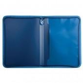 Папка на молнии пластиковая Brauberg Сontract, А4 335*242мм, внутренний карман, синяя, 225161