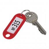 Брелоки для ключей Staff эконом, Компл 100шт., длина 48мм, инфо-окно 28*15мм, ассорти, 235590