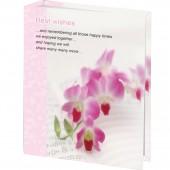 Фотоальбом 10х15 см, Brauberg твердая обложка, орхидеи, 390663