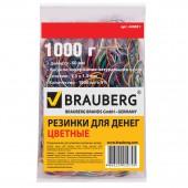 Резинка для денег 1000 гр, Brauberg (натур. каучук!) цветные, , 1800шт.