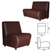"""Кресло мягкое """"V-600"""" (ш550*г750*в780мм), без подлокотников, экокожа, корич., ш/к 22595"""