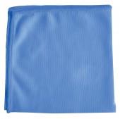 "Салфетка для оптики, стекла Лайма ""Офисная"", плотная микрофибра, 30*30 см, синяя, 601256"