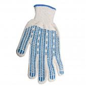 Перчатки х/б Лайма премиум, 1 пара, ПВХ защита (протектор), прочные, 7,5 класс, 70г, европодвес,