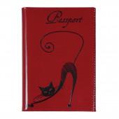 """Обложка для паспорта Befler """"Изящная кошка"""", нат. кожа, тисн., О.31.-1"""