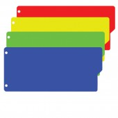 Разделитель пластиковый Brauberg 105х240 мм, 12 листов, без индексации, Цветной, Россия, 225632