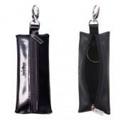 """Футляр для ключей Befler """"Classic"""" натур. кожа, на молнии, 55x135мм, черный, KL.8.-1, ш/к-70012"""