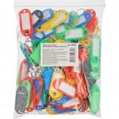 Брелоки для ключей пластиковая, ассорти, 100шт./уп.