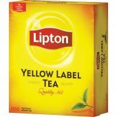 Чай черный Lipton Yellow Label Tea, 100пак/уп, с ярлычками, ст.12 . (12шт/уп)