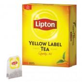 Чай черный Lipton Yellow Label Tea, 100пак/уп, с ярлычками, ст.12