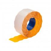 Этикет-лента 26х16, волна, оранжевая, ст.1