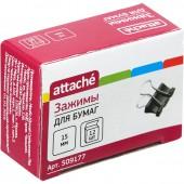 Зажим для бумаг  15мм  12шт/уп., в картонной коробке,  Attache
