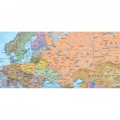 Карта мира политич.(240х160см)1:17млн, в рулоне