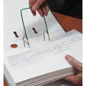 Механизм для скоросшивателя разъемн Attache метал/пласт,10 шт,зел, до 1600л, ножка 200мм