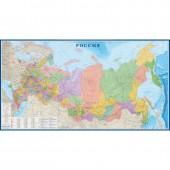 Настенная карта большая Россия 3,0 х 1,6м политико-администр