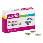 Кнопки металлические 12мм, 100шт/уп. карт/коробка, Attache