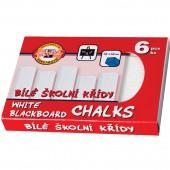 Мел школьный KOH-I-Noor, Комп 6шт., квадратный, белый, картонная коробка, 111504