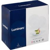 """Набор посуды столовый Luminarc """"Everyday"""", 18 предметов, белое стекло, G0566"""