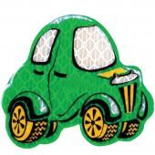 "Значок светоотражающий ""Машинка зеленая"" 55х50мм, ш/к 41123"