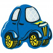 "Значок светоотражающий ""Машинка синяя"" 55х50мм, ш/к 41093"