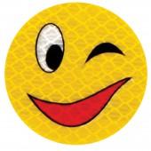 "Значок светоотражающий ""Смайл улыбка"" 50мм, ш/к 41321"