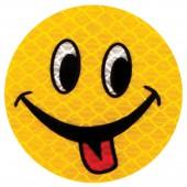"""Значок светоотражающий """"Смайл с языком"""" 50мм, ш/к 40751"""