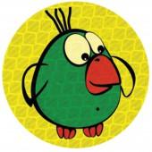 "Значок светоотражающий ""Зеленая птичка"" 50мм, ш/к 40249"