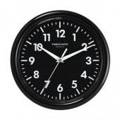 Часы Troyka черные, пластик, круглые