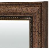 Зеркало в раме бронза/черный багет 53х85 см