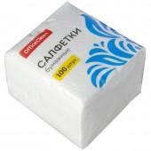 Салфетки бумажные OfficeClean, 24*24см, белые, 100шт.