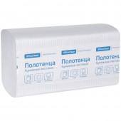 """Полотенца бумажные листовые  OfficeClean """"Professional""""(V-сл), 250л/пач, 21*21,6, тиснение, белые"""