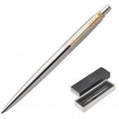 """Ручка шариковая """"Jotter Stainless Steel GT"""" синяя, 1,0мм, кнопочный механизм, подар.уп."""